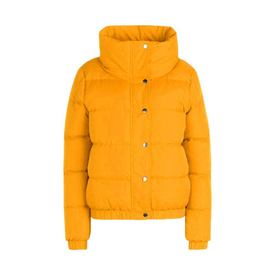 BHO Crop Funnel Neck Padded Jacket Women's Jacket Fiza Yellow S