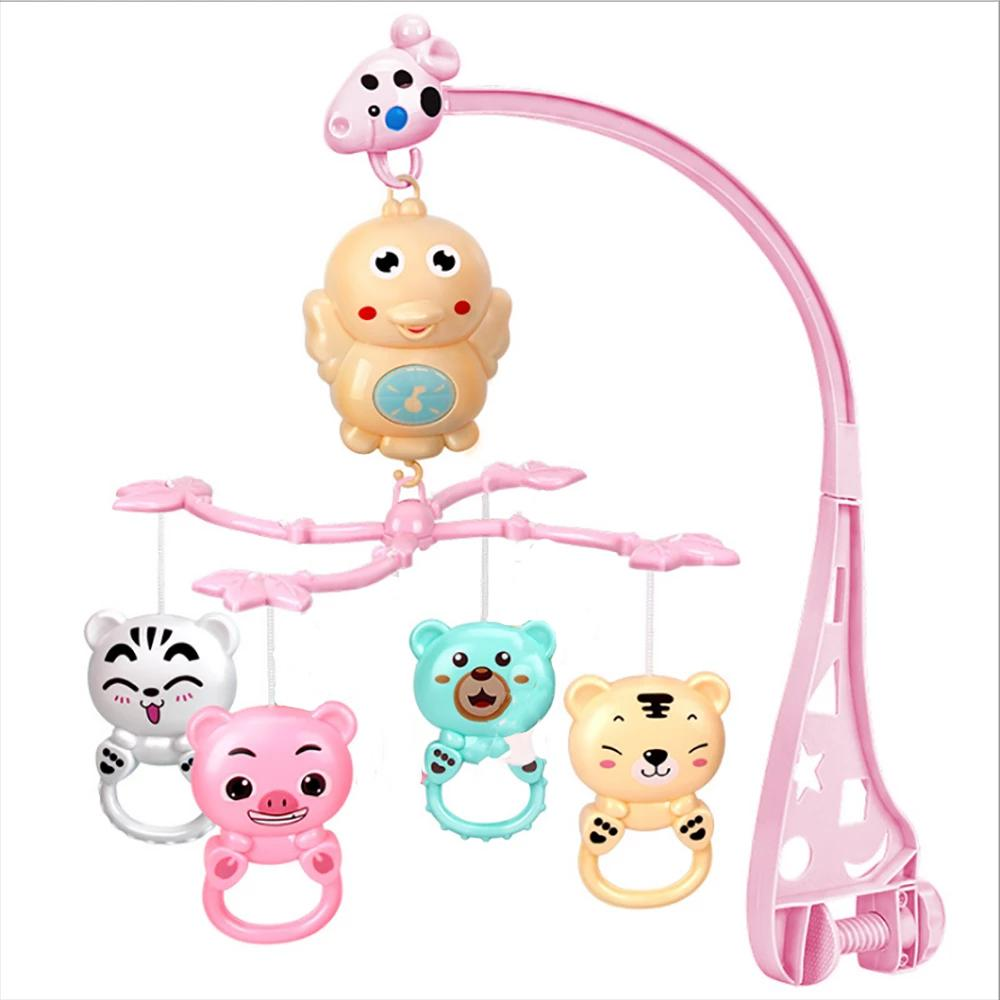 Bed Bell Baby Music Rotating Bedside Rattles Toy Sunshine China Pink