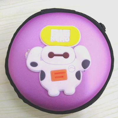 Cartoon Character Headphone Storage Bag Storage Bag Sunshine China Big Hero Purple