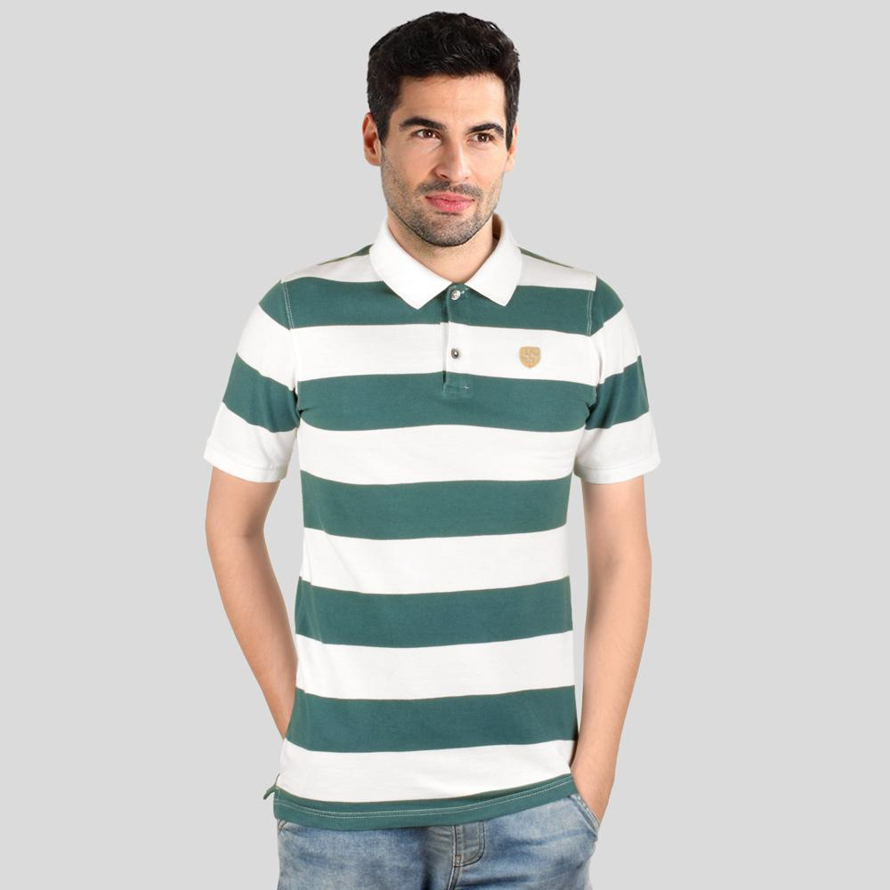 Cut Label Men's Striper  Classic Polo Shirt