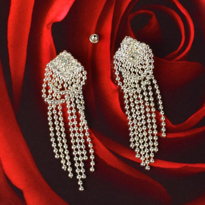 Ergun Long Paragraph Charming Earring Jewellery CPUQ Silver