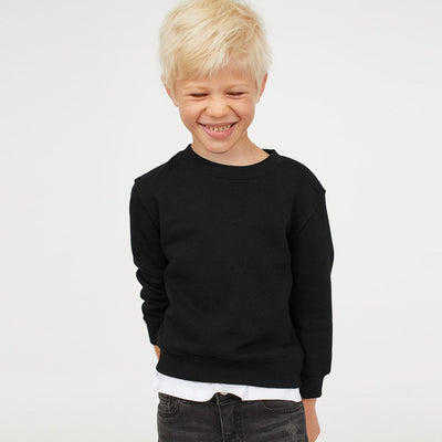 NWL Brushed Fleece Boy's Sweat Shirt Boy's Sweat Shirt SNC Black 9 Years
