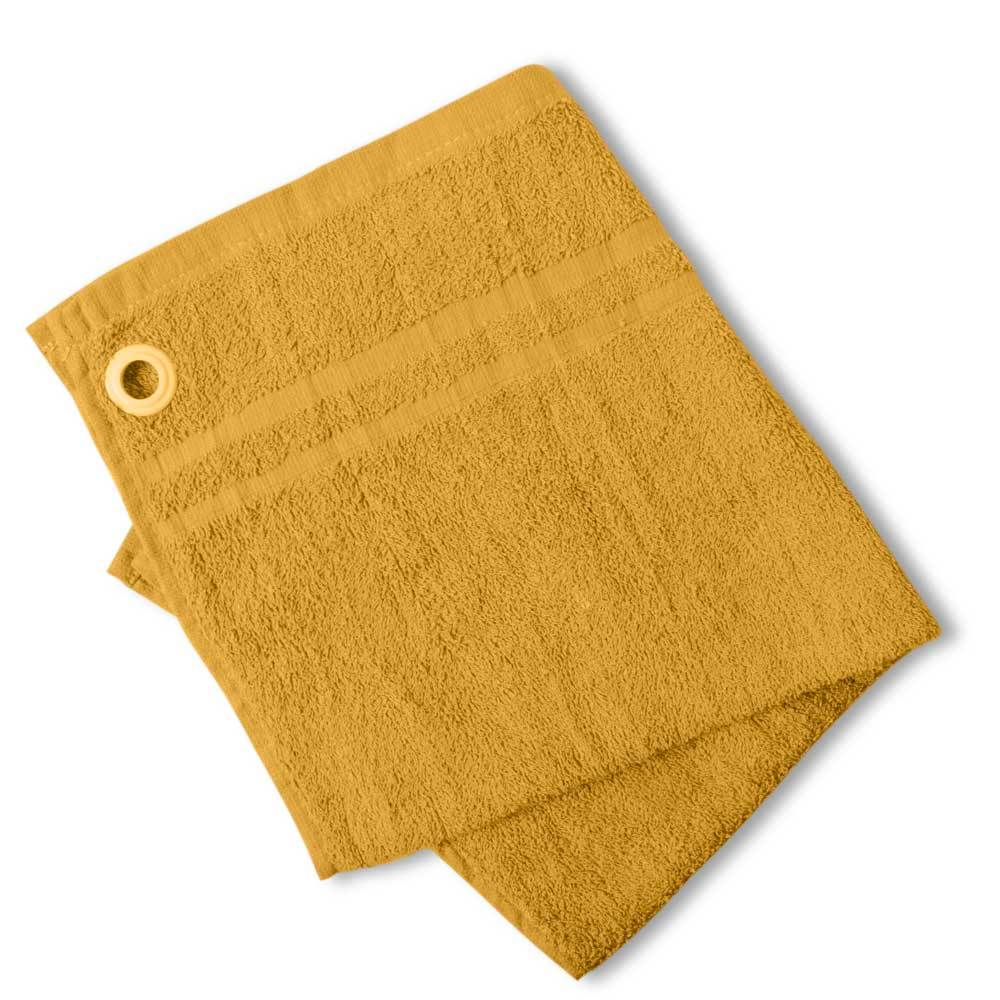 HNC Embellish Kitchen Towel with Eyelet Towel Haroon Cp Yellow