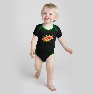 Polo Republica Boom Baby Romper Babywear Polo Republica Black Green 0-3 Months