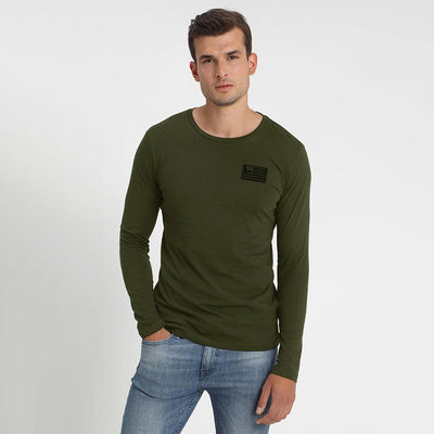 FLSR Outdoor Equipment Men's Long Sleeves Tee Shirt Men's Tee Shirt MAJ Olive S