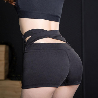 High Elastic Cross Tight Sports Quick-drying Women's Shorts Women's lingerie Sunshine China S