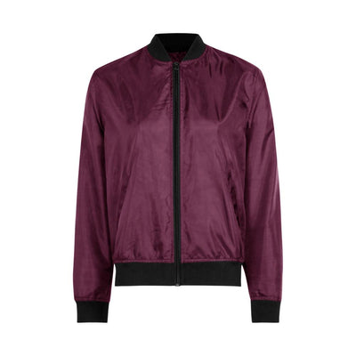Edremtef Women's Ultra Light Bomber Jacket Women's Jacket AGZ Burgundy XS