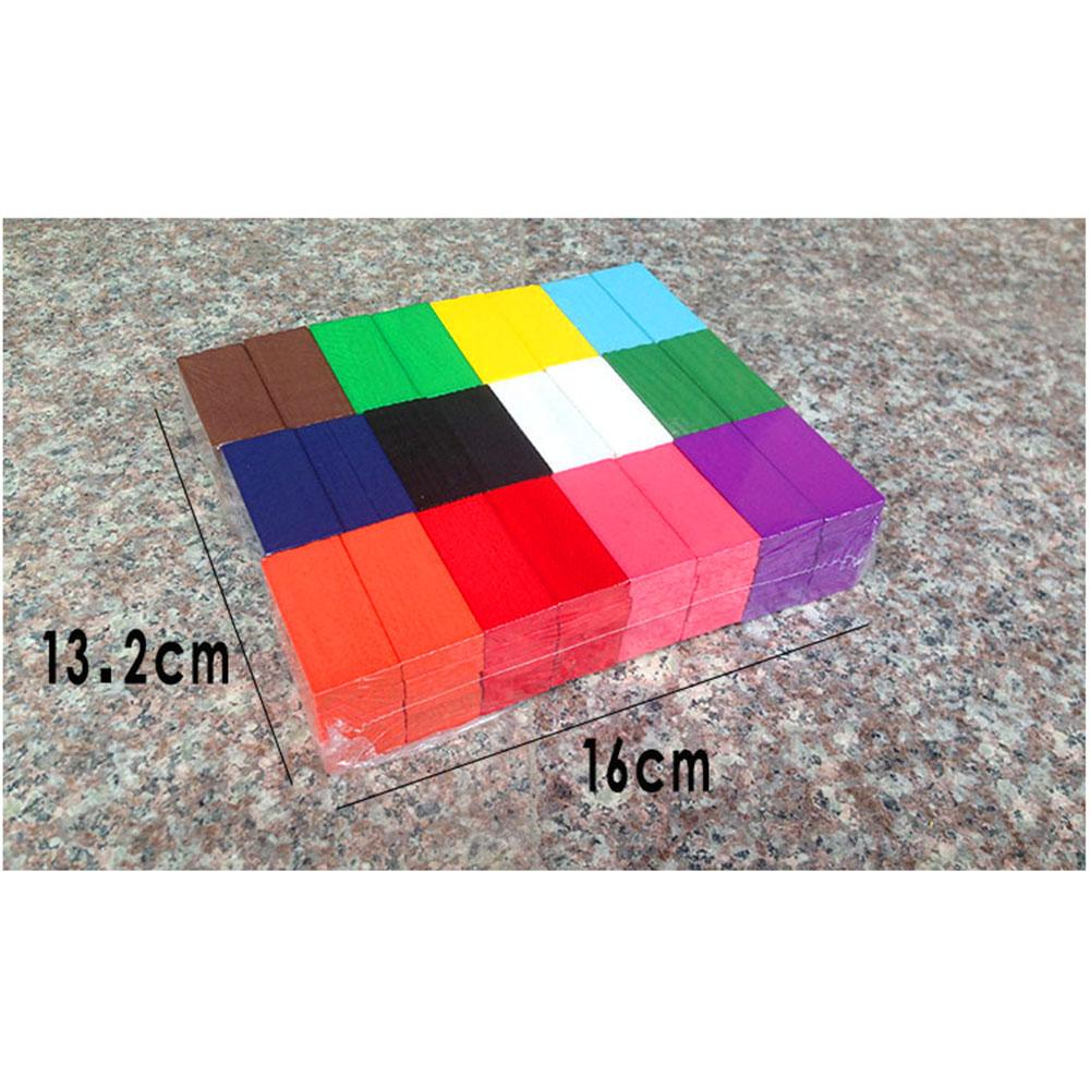 Rainbow Domino Wooden Building Blocks Educational Toy Toy Sunshine China