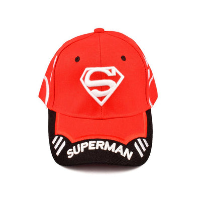 MB Superman Logo Embro P Cap Headwear MB Traders Red