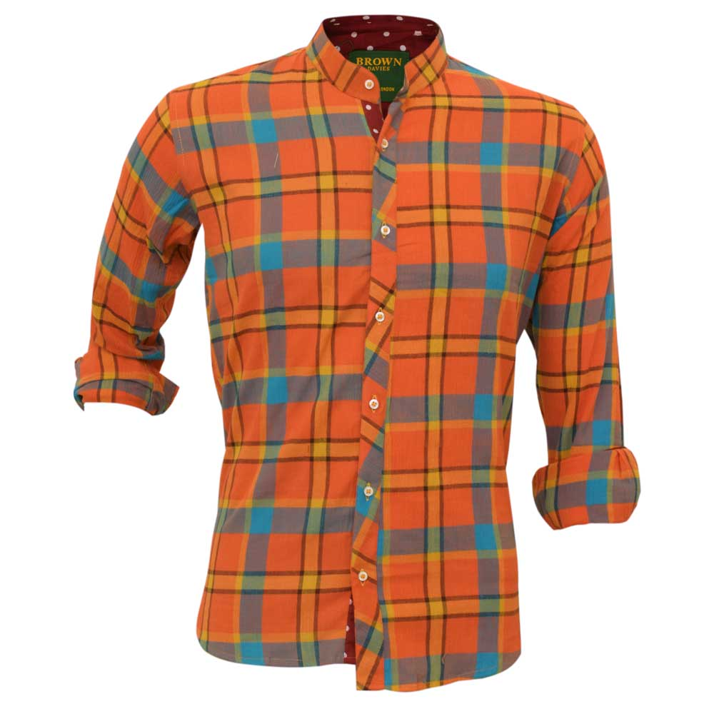 BDS Men's Carnaval Checkered Casual Shirt Men's Casual Shirt First Choice S