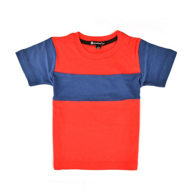 Jonathan Corey Kids Panelled Tee Shirt Boy's Tee Shirt First Choice D3 S