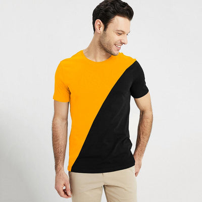 Poler Mthatha Contrast Color Men's Tee Shirt Men's Tee Shirt IBT Yellow Black XS