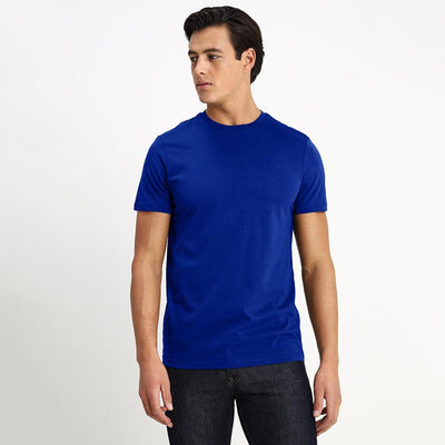 CSG Paulinia Men's Solid Tee Shirt Men's Tee Shirt First Choice Royal S