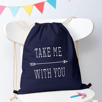 Polo Republica Take Me With You Drawstring Bag Drawstring Bag Polo Republica Navy White