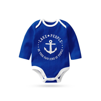 Polo Republica Lake People Long Sleeve Pique Baby Romper Babywear Polo Republica Royal White 0-3 Months