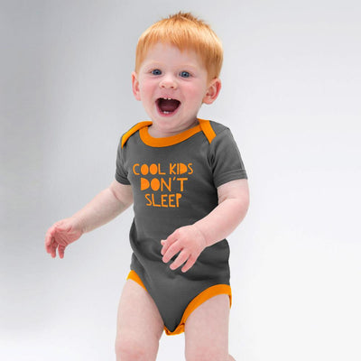Polo Republica Cool Kids Baby Romper Babywear Polo Republica Dark Graphite Orange 0-3 Months