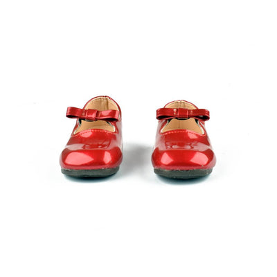 Fashion Bow Style Patent Leather Kids Sandals