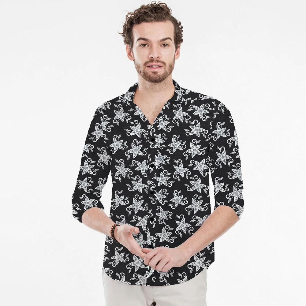 SRT Men's Maiden Floral Printed Casual Shirt Men's Casual Shirt SRT S