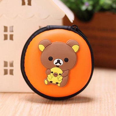 Cartoon Character Headphone Storage Bag Storage Bag Sunshine China Panda Orange