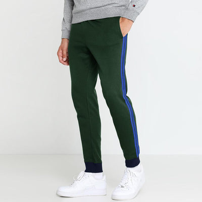 Polo Republica Men's Drebzon Striper Fleece Jogger Pants Men's Sweat Pants Polo Republica Bottle Green Royal S