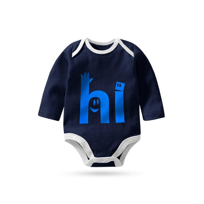 Polo Republica Hello Long Sleeve Baby Romper Babywear Polo Republica Navy White 0-3 Months