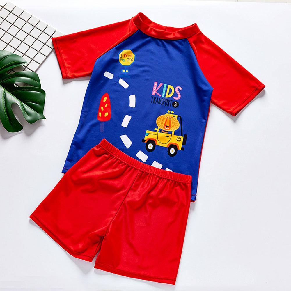 Kids Transport Design Boys 2 Pcs Swimwear Suit Swimming Suit Sunshine China S