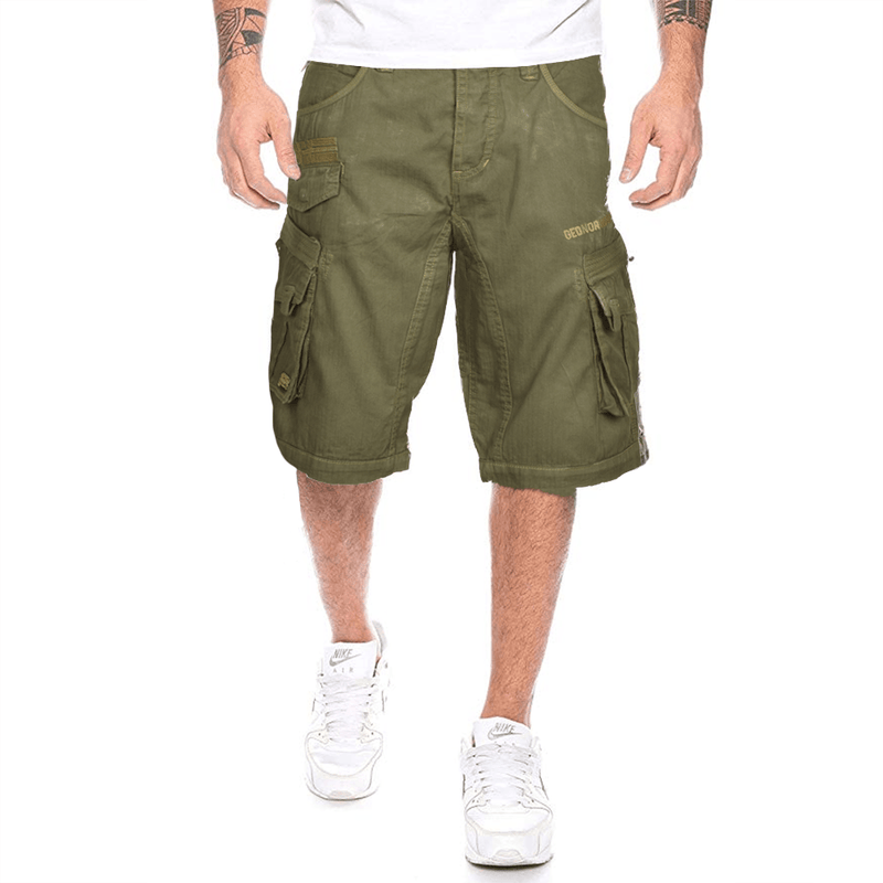 Geographical Norway Men's Exp 53 Cargo Shorts Men's Shorts MHJ Brown S