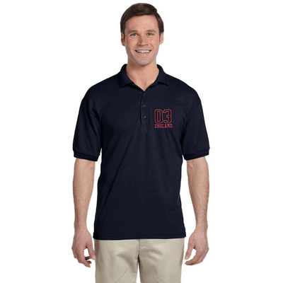 EGL England Embro Short Sleeves Polo Shirt Men's Polo Shirt Image Navy XS