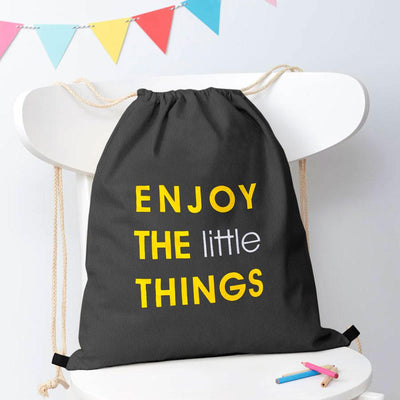 Polo Republica Enjoy Little Things Drawstring Bag Drawstring Bag Polo Republica Graphite Yellow