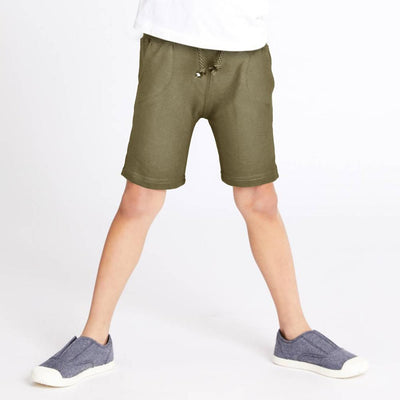 ZR Kid's Classic Solid Terry Shorts Kid's Shorts First Choice Light Olive 3-6 Months