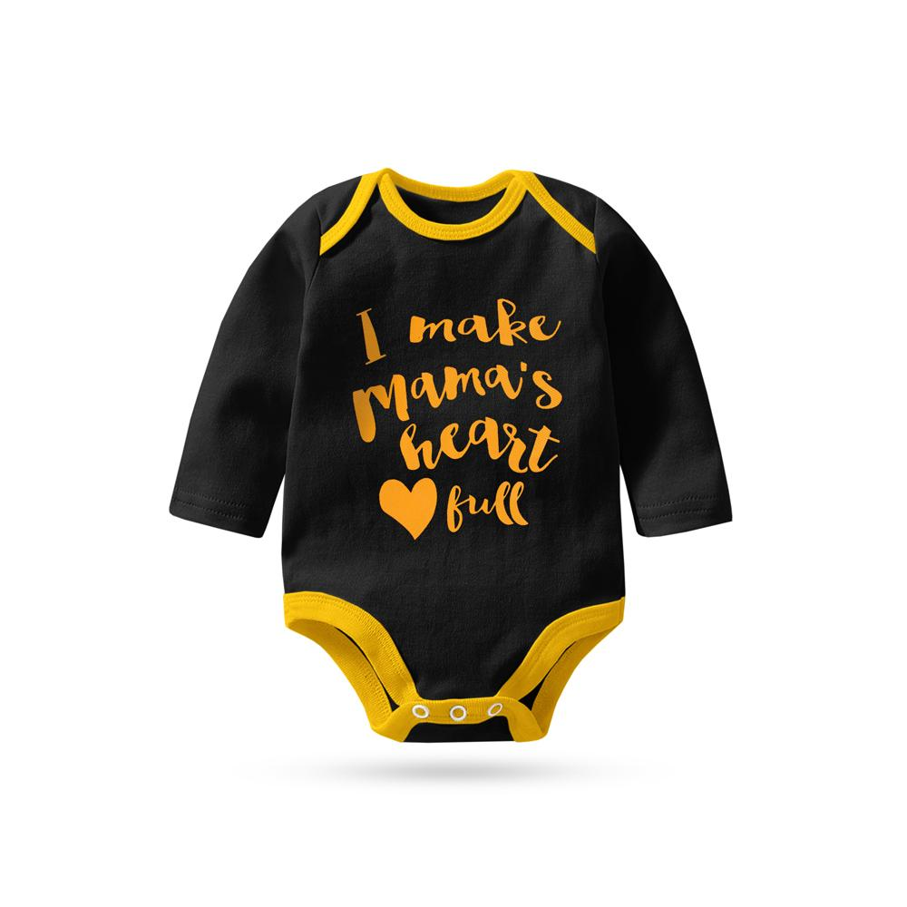 Polo Republica Mama's Kid Long Sleeve Baby Romper Babywear Polo Republica Black Yellow 0-3 Months