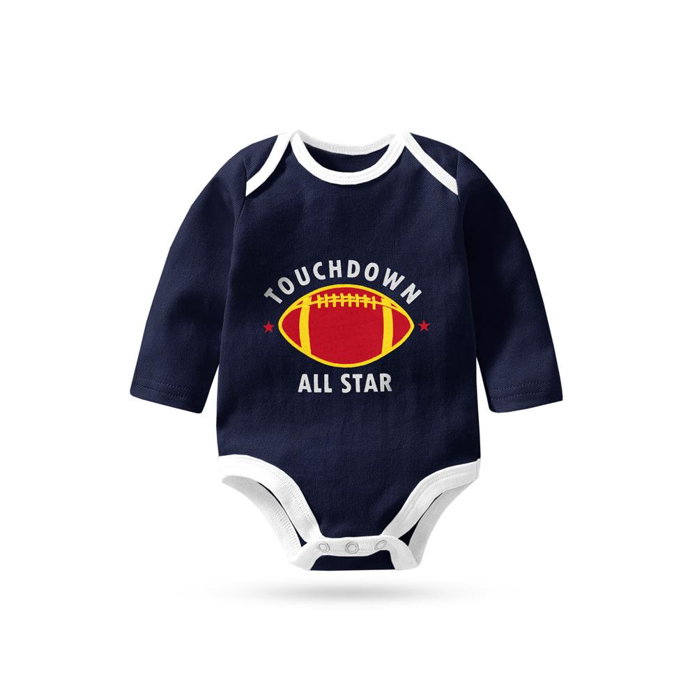 Polo Republica Touch Down All Star Pique Baby Romper