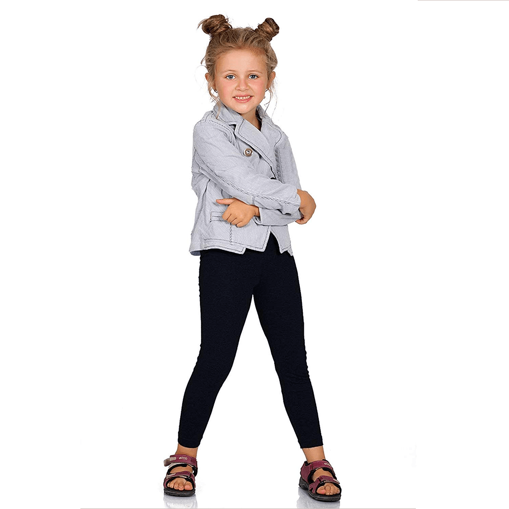 Boomerang Girl's Cozy Embro Leggings Girl's Trousers First Choice Navy 2 Years