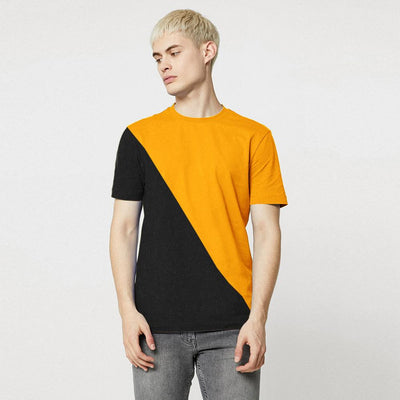Poler Uitenhage Contrast Color Men's Tee Shirt Men's Tee Shirt IBT Yellow Black XS