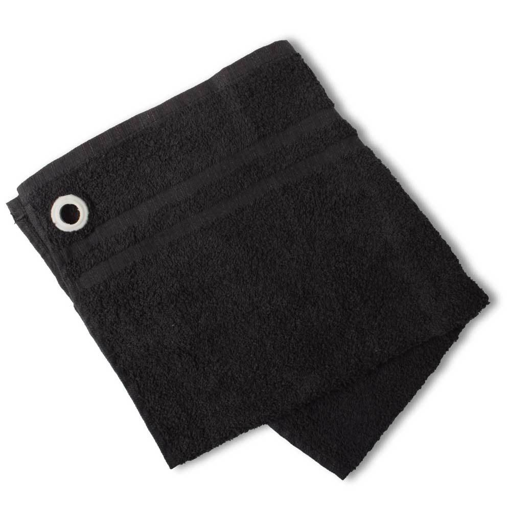 HNC Embellish Kitchen Towel with Eyelet Towel Haroon Cp Black