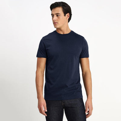 CSG Paulinia Men's Solid Tee Shirt Men's Tee Shirt First Choice Navy S