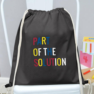 Polo Republica Part Of The Solution Drawstring Bag Drawstring Bag Polo Republica Dark Graphite