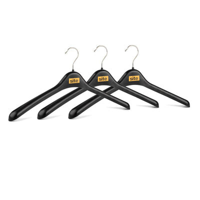 Black Plastic Heavy Duty Pack of 3 Shaper Hanger Set General Accessories Sunshine China