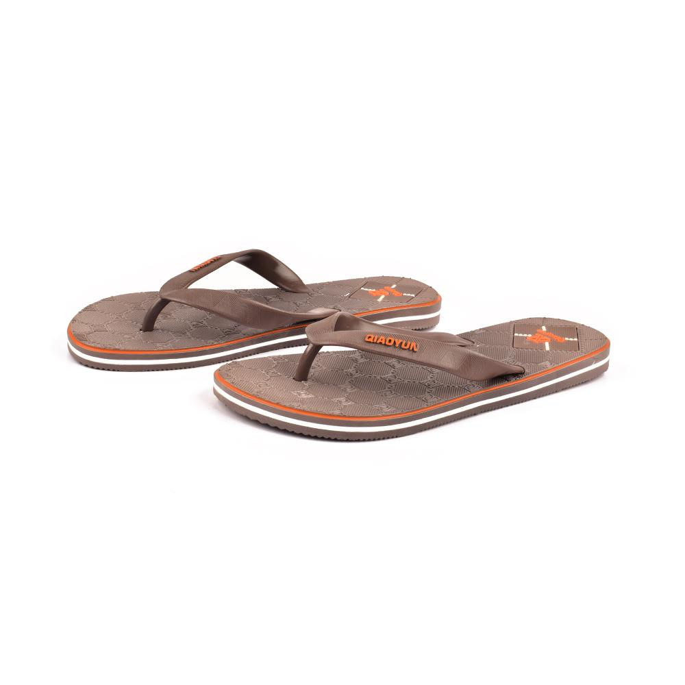 Qiaoyun Men's PVC Flip Flop Men's Shoes Sunshine China Light Brown EUR 40