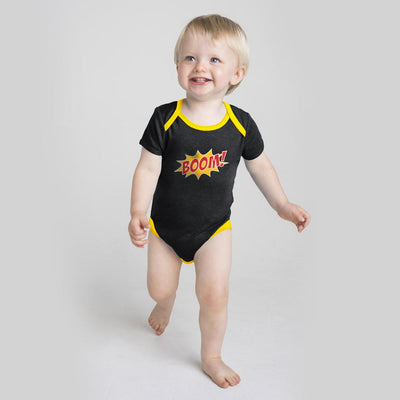 Polo Republica Boom Baby Romper Babywear Polo Republica Charcoal Yellow 0-3 Months