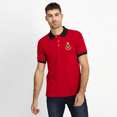 Polo Republica Leo League 1985 Polo Shirt Men's Polo Shirt Polo Republica Red Black S