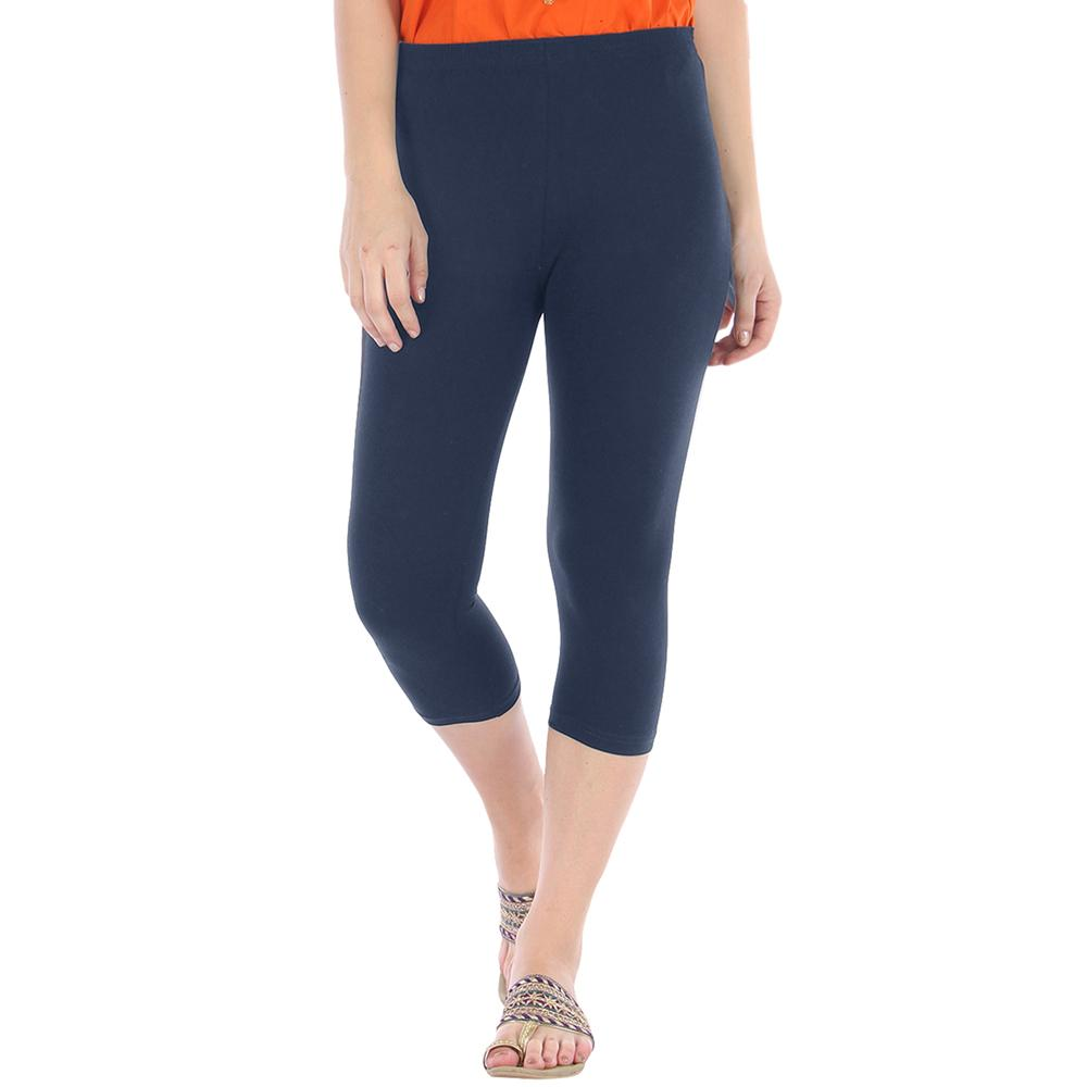 Women's Bloemfontein Ultra Soft Three Quarter Long Leggings Women's Trousers First Choice Navy S