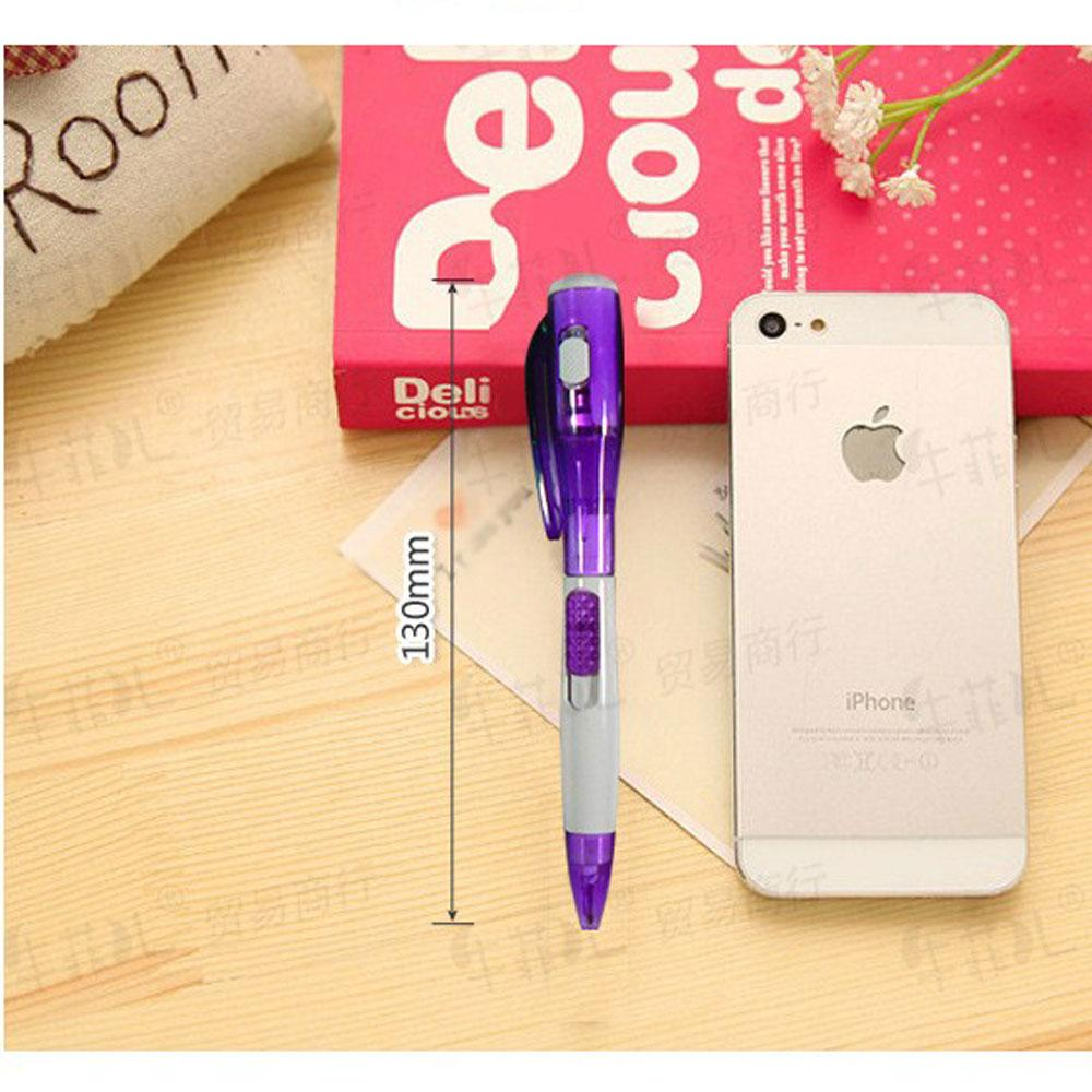 Ball pen with light torch Led stationery office kids children