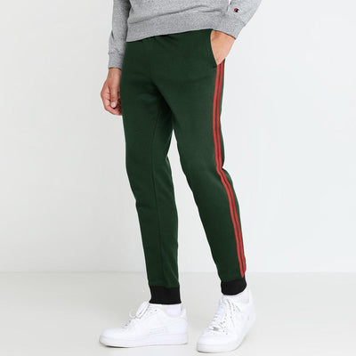 Polo Republica Men's Drebzon Striper Fleece Jogger Pants Men's Sweat Pants Polo Republica Bottle Green Red S