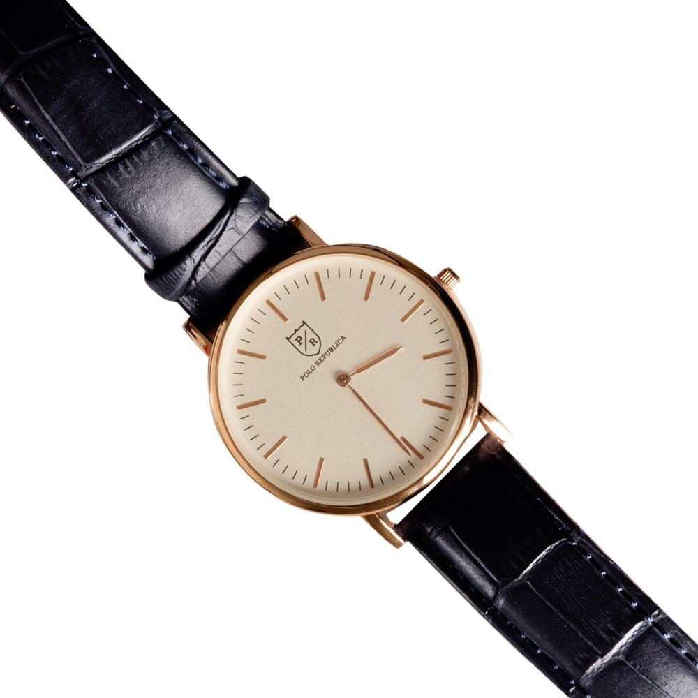 Polo Republica Classic St. James Leather Strap Wrist Watch in a Beautiful Gift Box