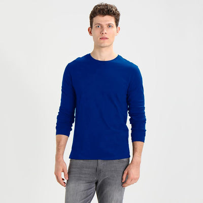 Polo Republica Tamura Long Sleeves Rib Tee Shirt Men's Tee Shirt Polo Republica Royal XS