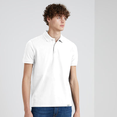 BRTE Men's Classic Polo Shirt Men's Polo Shirt Image White XXS