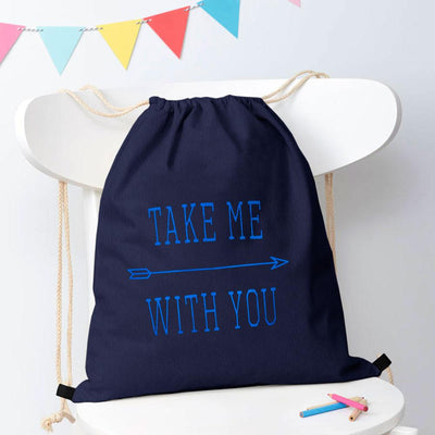 Polo Republica Take Me With You Drawstring Bag Drawstring Bag Polo Republica Navy Blue