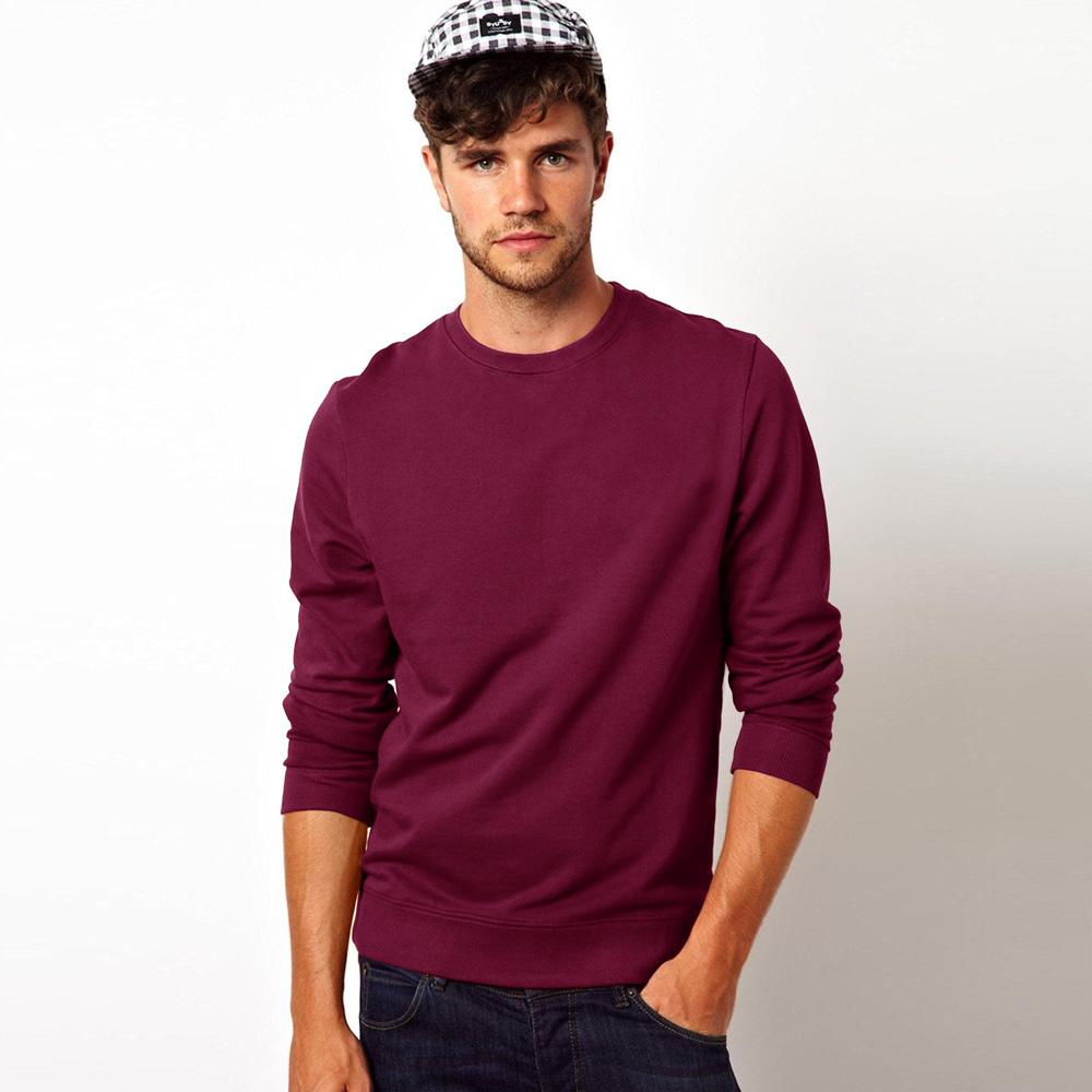 Kitrose Sweat Shirt Men's Sweat Shirt Image Burgundy L
