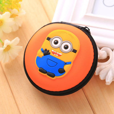 Cartoon Character Headphone Storage Bag Storage Bag Sunshine China Minion Orange
